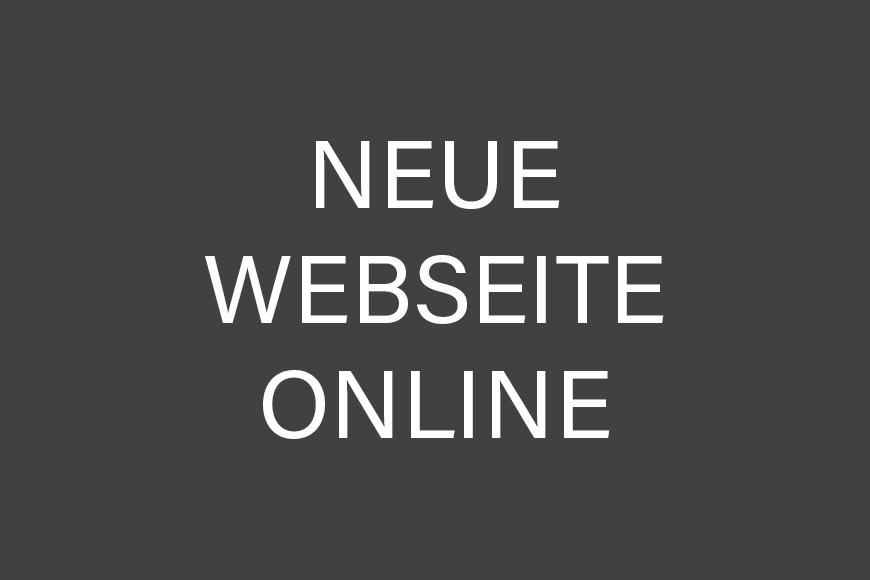 Unsere neue Webseite ist ab sofort online!